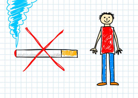 Drawing of cigarette      Vector