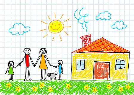 Drawing of family      Ilustracja