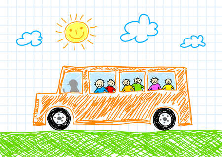 schoolbus: Drawing of bus