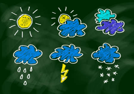 snow storm: Drawing of weather Stock Photo