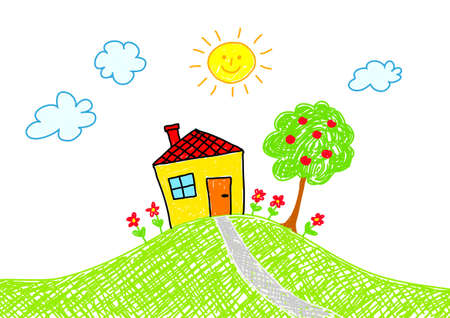 appletree: Drawing of house