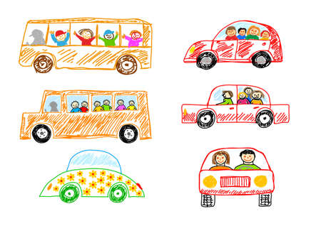 Collection of cars Stock Vector - 12063090