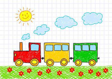 Zeichnung der Bahn Illustration