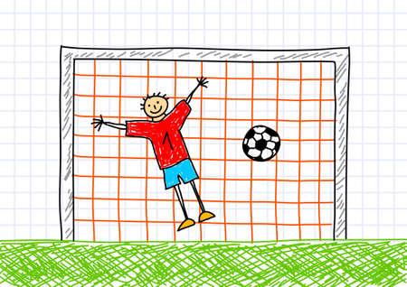 Goal-keeper Stock Vector - 12063110
