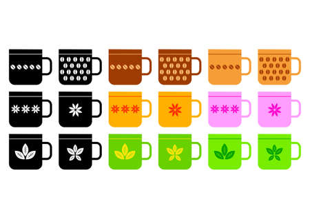 Collection of cups      Vector