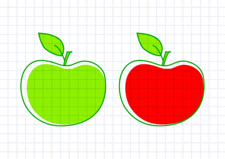 Drawing of apples Stock Vector - 12063223