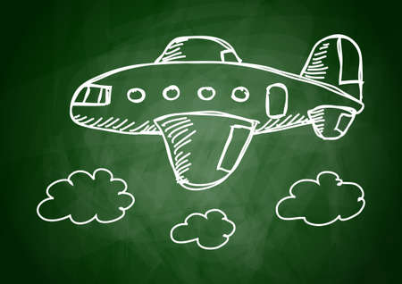 Drawing of aircraft      Stock Vector - 12071196