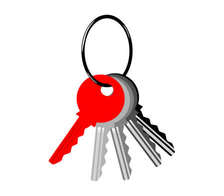 Keys on white background Banco de Imagens - 12063180
