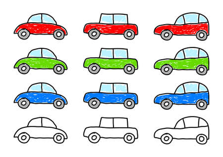 Collection of cars Stock Vector - 12071230
