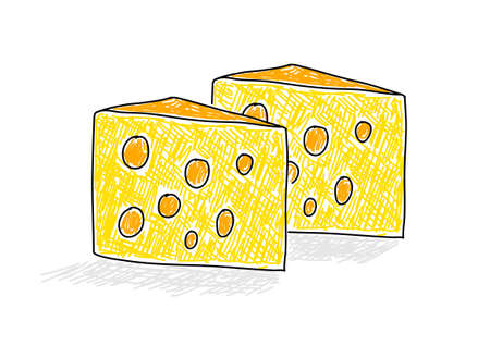 Drawing of cheese      Vector