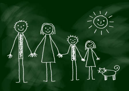 Drawing of family photo