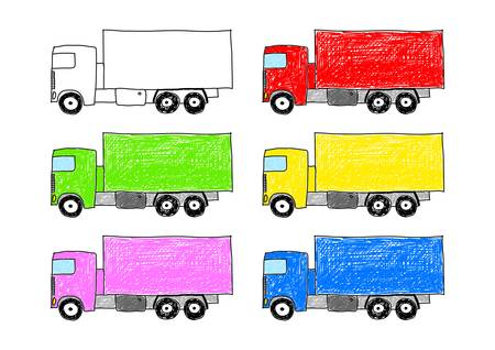 Collection of trucks Stock Vector - 12220109