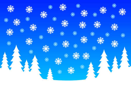 Winter landscape Stock Vector - 12220037