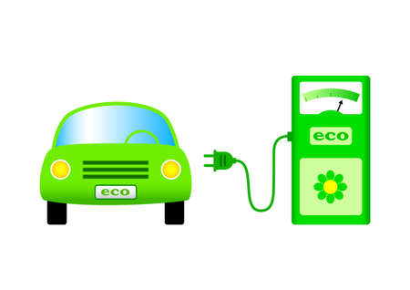 electric automobile: Ecological car