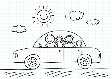 Zeichnung des Autos