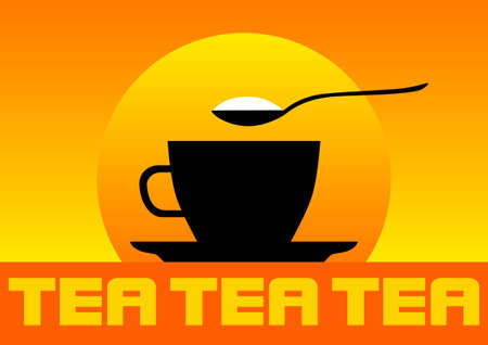Silhouette of teacup  Vector