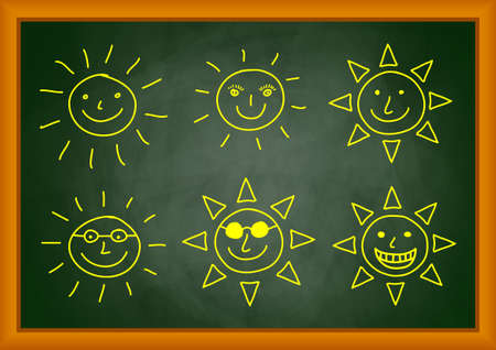 Drawing of sun Stock Vector - 12220200