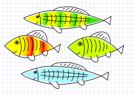 Drawing of fish Stock Vector - 12220191
