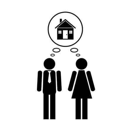 жилье: Люди значок Иллюстрация