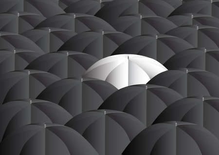 Background with umbrellas      Vector