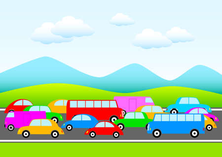 Traffic in nature Vector