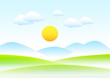 haze: Mountainous landscape