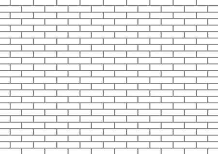 Witte bakstenen muur Vector Illustratie