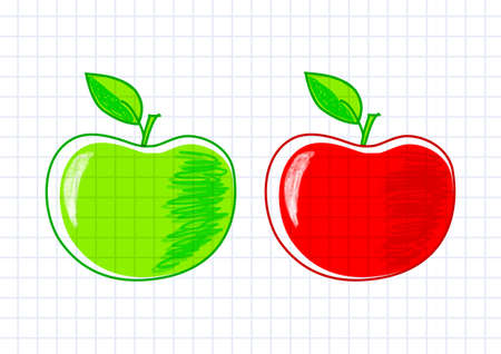 Drawing of apples Stock Vector - 12494698