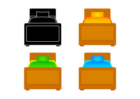 Collection of beds      Vector