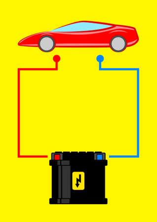 Autobatterie Vektorgrafik