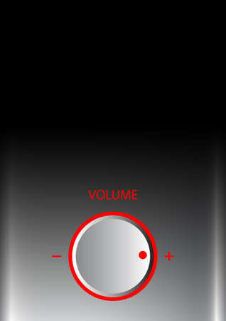 hi fi system: Background with volume knob
