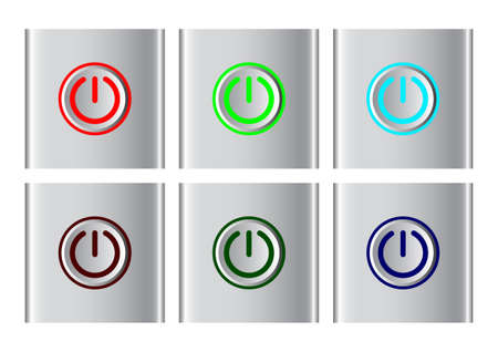 Power button icons Vector