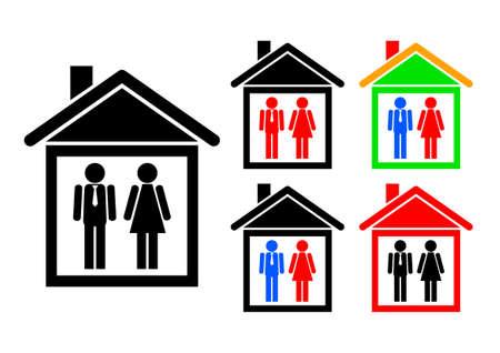 hospedaje: Iconos de casa