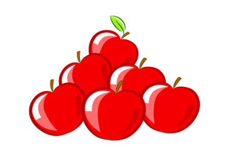 Pile of apples         Stock Vector - 12495152