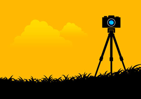 Silhouette of camera  Vector