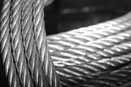 fil de fer: Câble galvanisé Banque d'images