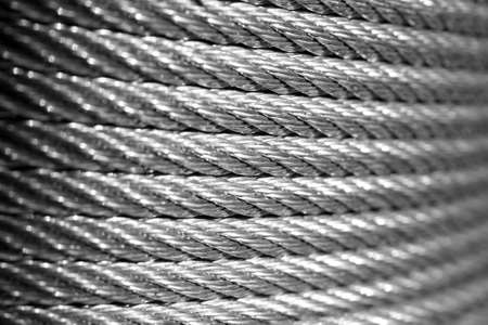 galvanized: Galvanized wire rope