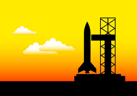 Black silhouette of rocket