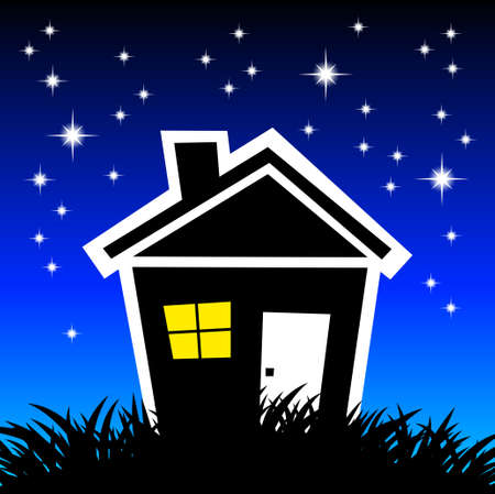 Night house Stock Vector - 12685981