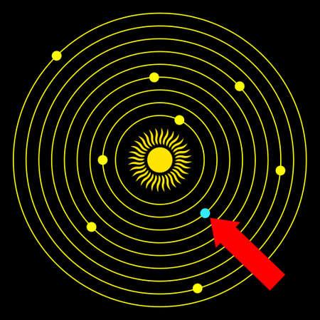 systeme solaire: Symbole du syst�me solaire