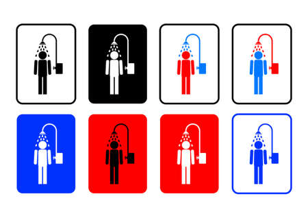 showering: Shower icons