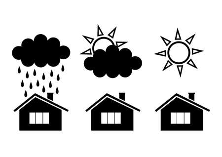 Weather icons Stock Vector - 13038165