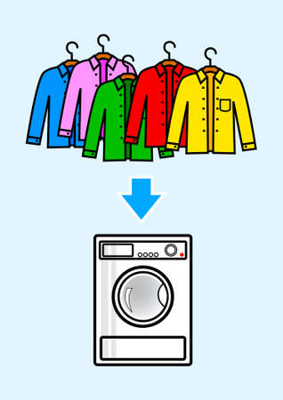 Washer with color shirts Vector