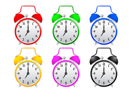 Collection of alarm clocks Stock Vector - 13067970