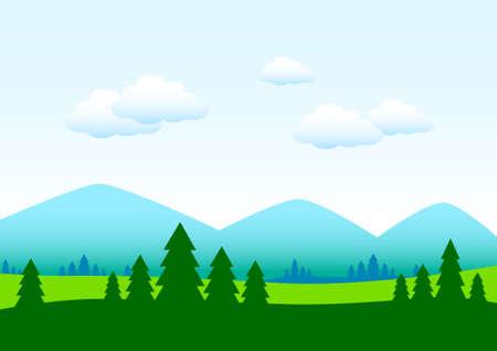 Summer landscape Stock Vector - 13067956