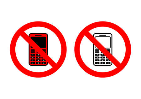 No phones Stock Vector - 13108263