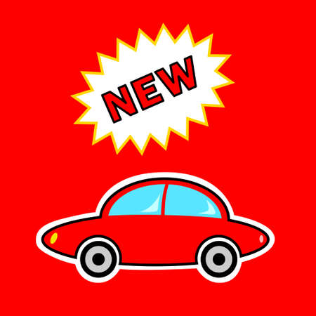 New red car Stock Vector - 13127943