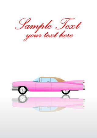 Fondo con el coche de color rosa