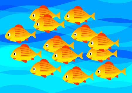 Orange fish  Vector