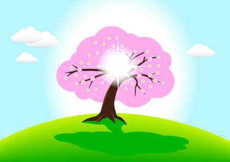 Flowering tree  Stock Vector - 13278402